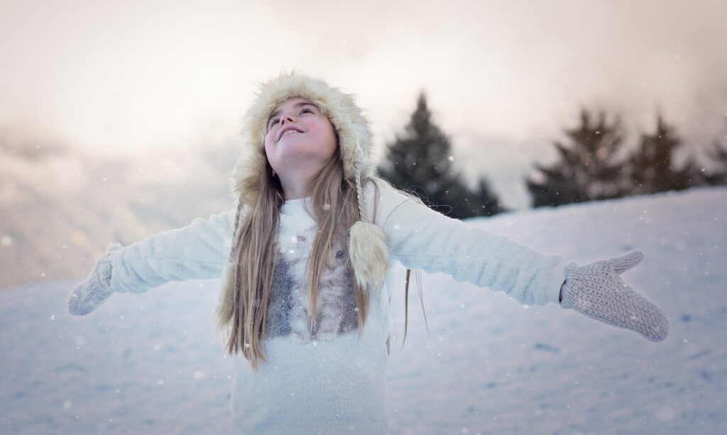 young-woman-in-snow_Photo by Pixabay