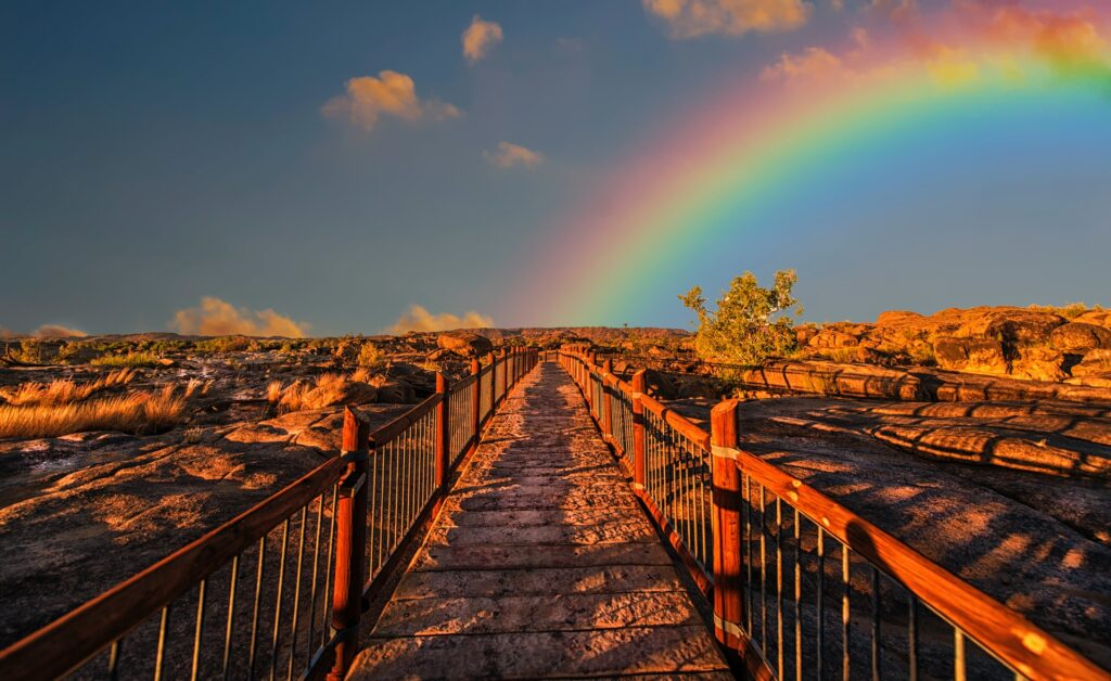 rainbow. Photo by Frans Van Heerden